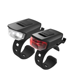 LAMPA ROWEROWA KELLYS VEGA USB CZARNA - KOMPLET