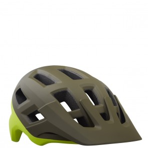 KASK ROWEROWY LAZER COYOTE MATTE GREEN FLASH YELLOW