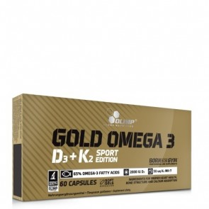 OLIMP GOLD OMEGA 3 D3+K2 SPORT EDITION 60KAPS